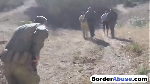 Blonde gets strip-searched and fucked hard by border patrol agent