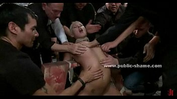 Blonde skinny babe tormented