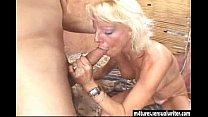 Sexy blonde mature fucks y. guy