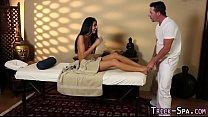 Babe gets feet massaged
