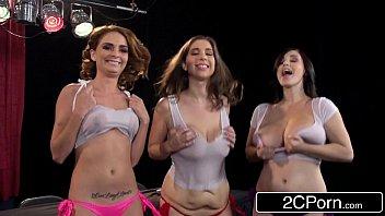 Wet Titty T-Shirt Telethon - Ashley Graham, Alex Chance & Noelle Easton