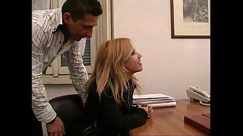 A cute blondie needing a job a. in a job interview