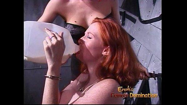 Freckled ginger slut enjoys getting tied up by her kinky domina