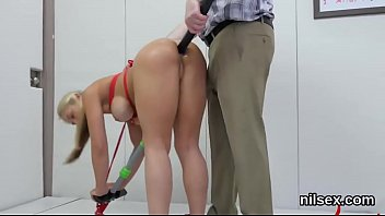 Horny chick is brought in asshole asylum for painful treatment