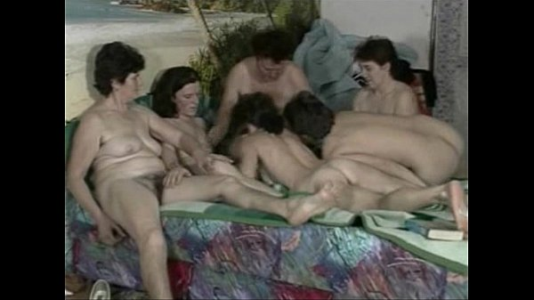 Young dude fucks hair granny and friends