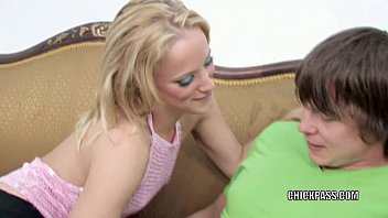Petite blonde Jewles West takes some dick