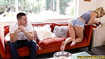 Natalia Starr swallow her step bros thick cock