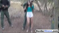 Girl accepts fucking with the border patrol officer for her freedom