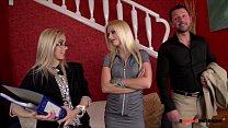 Slutty real estate agent fucks her clients to sell the Property