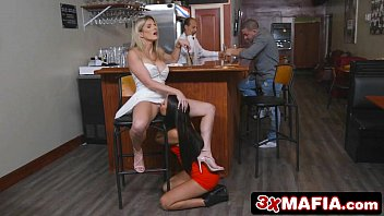 2 Lonely & Horny MILF Barflies Competing for a Cock - Cory Chase & Aubrey Rose