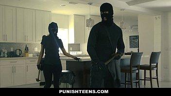 PunishTeens - Big Ass Thief (Sophia Leone) Handcuffed and Fucked