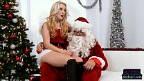 Blonde wants a big fat cock for Christmas from Santa