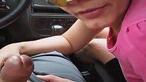 Raquel pagou boquete dentro do carro na rua