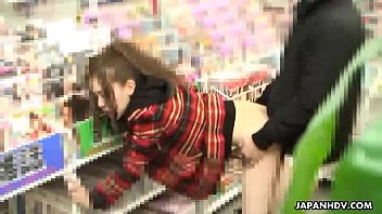 Asian slut in a store gotten fucked and ass spunked