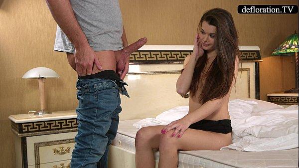 Defloration - a professional takes Mirella's virginity