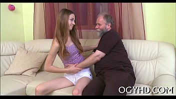 Young hottie licks and rides old rod