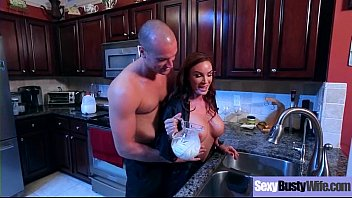 (Diamond Foxxx) Round Sexy Big Boobs Housewife Enjoy Hard Bang movie-14