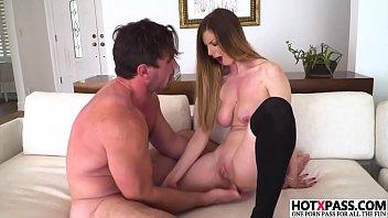 Busty girl Stella Cox gets ass fingered