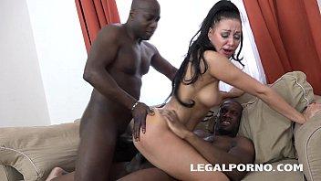 Beautiful vixens Eva Ann & Licky Lex Hard Interracial Anal - Never Back down!