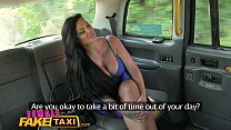 Female Fake Taxi Lesbian cab driver finger fucks tv babe in forest