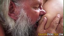 Slut rides grandaddys rod