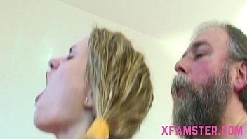 Old young fuck scene cumshot on chest of young tiny l. stepdaughter