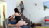 Pervy step bro bangs Hailey Littles twat from behind