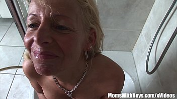 Mature Blonde Shaving Her Snatch And Blows Cock