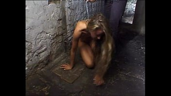 Naked slaves kept on a leash and brutalized!