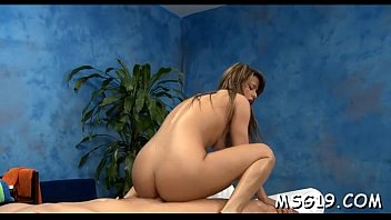 Oiled sweetheart sucks and rides rod