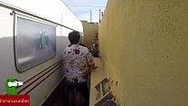 Castigada en el rincón de follar. En la calle en público con voyeur spycamGUI023 25 min