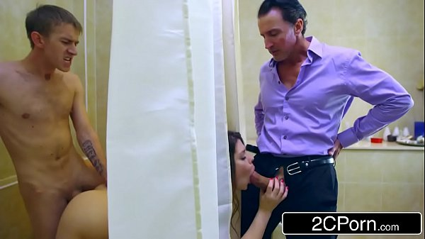 Cheating Wife Lucia Love Sneakily Fucking Both Husband & Lover at the Same Time