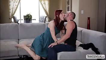 Redhead shemale Stefani Special gets fucked by a hunk dude