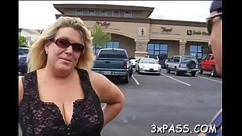 Bulky bitch is screwed