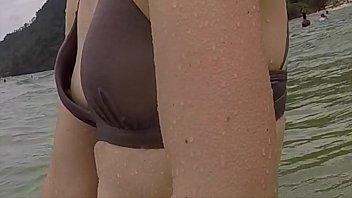 REAL: Sweet Beach Spying Nipple Down Bikini