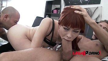 Redhead Alexa Nova -  Anal and Deepthroat Super Slut 1st time Gonzo 2on1