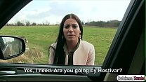 Italian babe Eveline Dellai gets fucked in the backseat