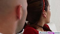 Redhead chick Brooke Haze pounded by a her neighbor