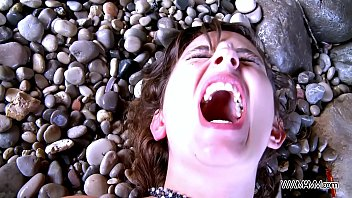 Myfirstpublic Mouth filling with cum on the beach 13 min