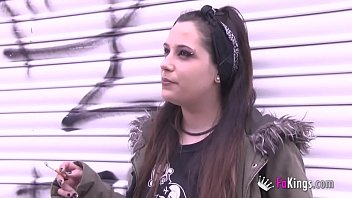 Teens today: A hot punk alternative girls shows herself and gets banged by a latino
