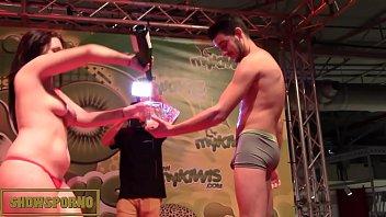 Onlyfans.com/pamelasanchez- Hot brunette funny show on stage
