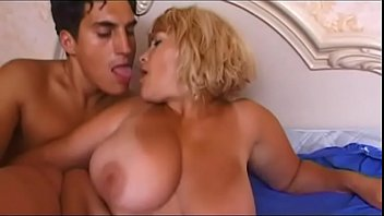 A mature blonde spied in the bathroom and fucked for good