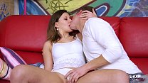 Shootourself Easy in easy out for super hot naughty brunette and skinny guy