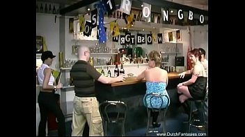 Group Orgy In The Dutch Bar 8 min