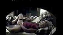 My mom masturbating on bed. Hidden cam