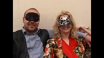 Cute blonde in mask wants his cock!