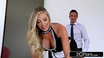 Perfect Maid Samantha Saint Keeps The House Clean And Her Boss's Balls Drained