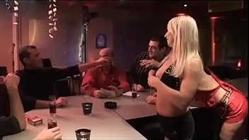 GANG-BANG in the restaurant