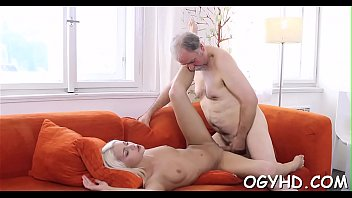 Youthful crumpet rides old dick
