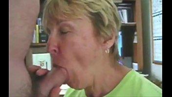 Grandma sucks her grandson's dick